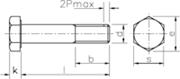 Vite Testa Esagonale gambo parzialmente filettato Z.D. Bianco
