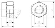 Dado Alto Autobloccante con anello in nylon Zincato Bianco - 74738ZBIANCA