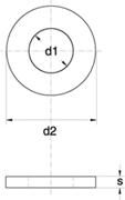 Rosette Fascia Larga con esterno = 3 o 4 volte il foro Zincato Bianco