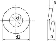 Rondelle Elastiche Grower per viti testa cilindrica Z.D. Bianco