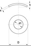 Rondelle Elastiche Curvate Z.D. Bianco