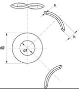 Rondelle Elastiche Ondulate