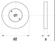Rondelle di spessoramento PS Z.D. Bianco