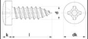 Vite Autofilettante Testa Cilindrica Impronta Croce Zincato Bianco