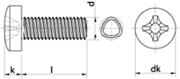 Vite autoformante (trilobata) Testa Cilindrica Impronta Croce Zincato Bianco