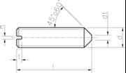Vite Senza Testa (Grano) con intaglio ed estremità conica Zincato Bianco