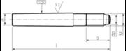 Spine coniche gambo filettato (cono variabile) (filetto fisso) tolleranza h8